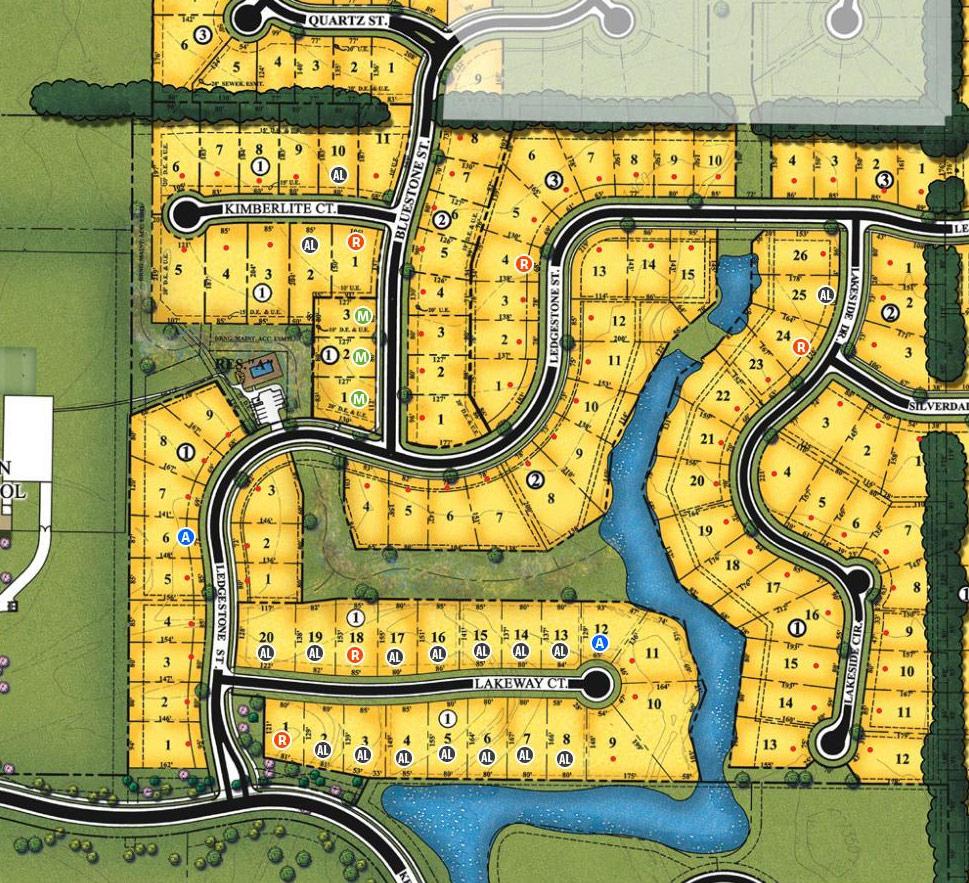 Cornerstone at Lakeway New Home Community Plat Map Wichita