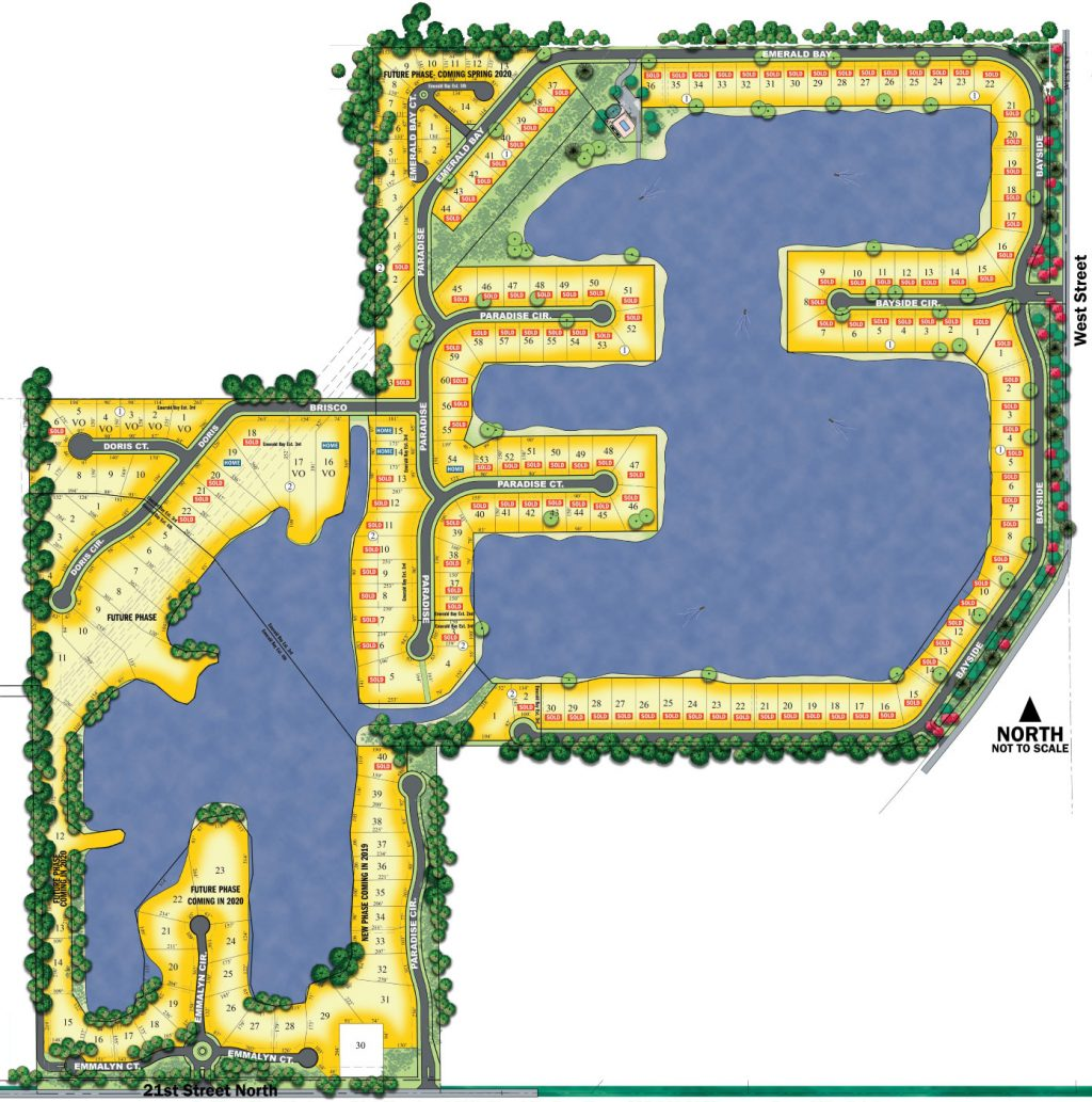Emerald Bay Estates Plat Map, Wichita KS