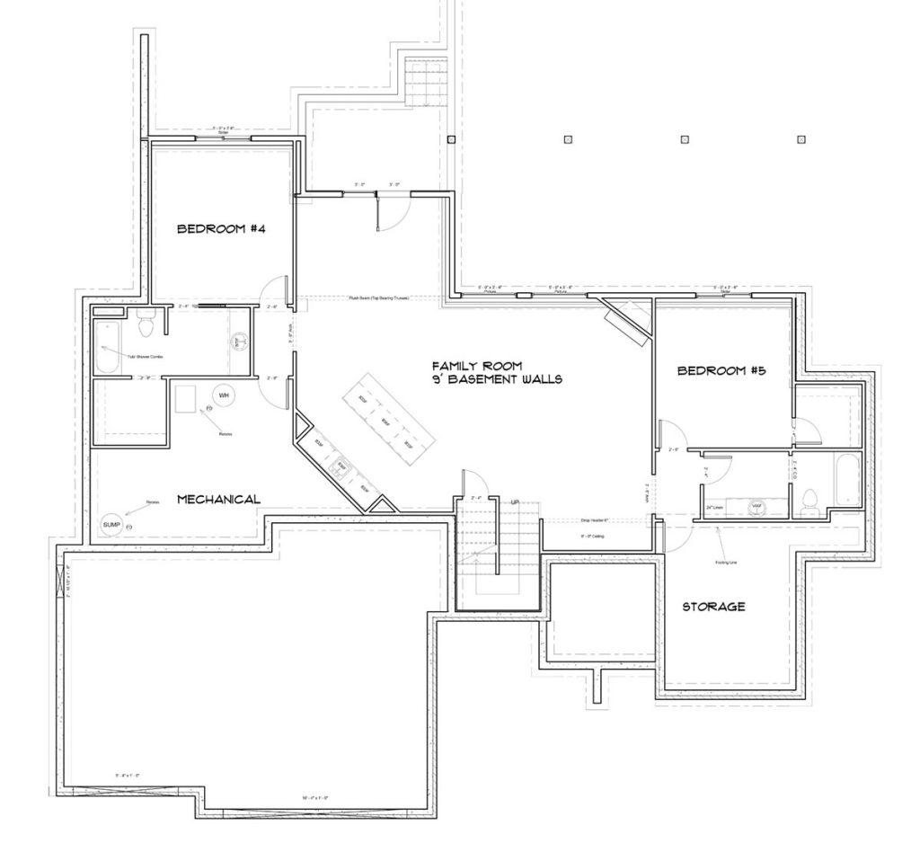 Barrington Custom Home Floor Plan in Wichita