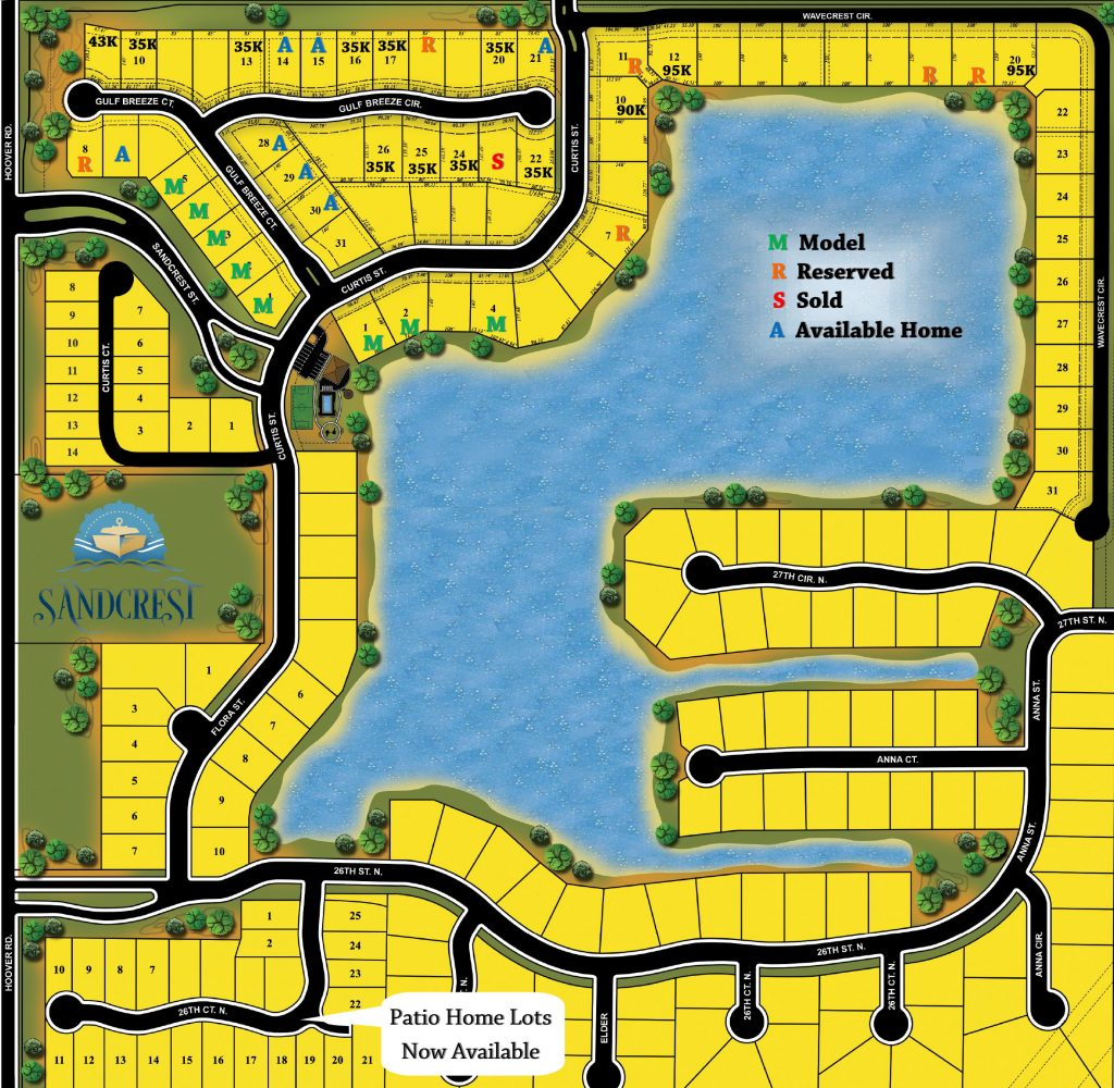 Sandcrest New Home Community Plat Map Wichita