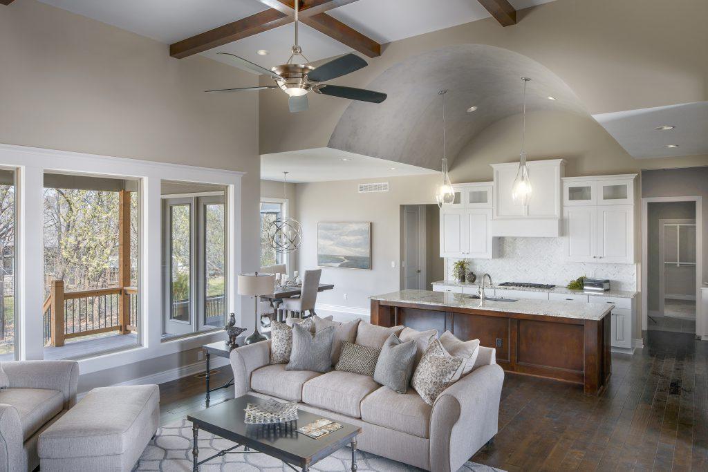 Graystone Custom New Construction Living Room in Wichita