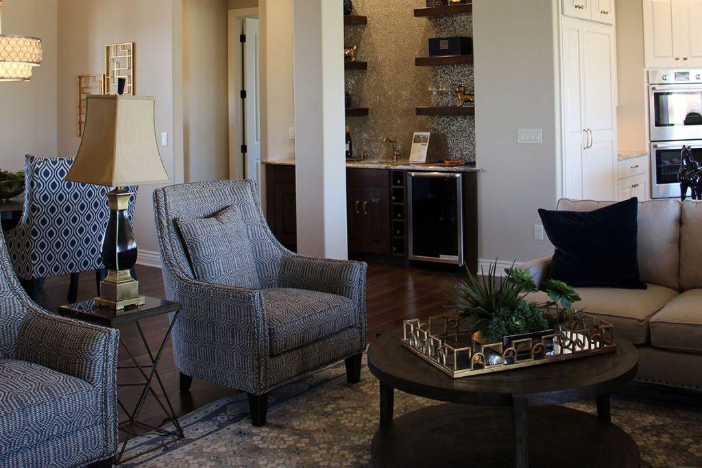 Bellevue Custom New Construction Living Room in Wichita