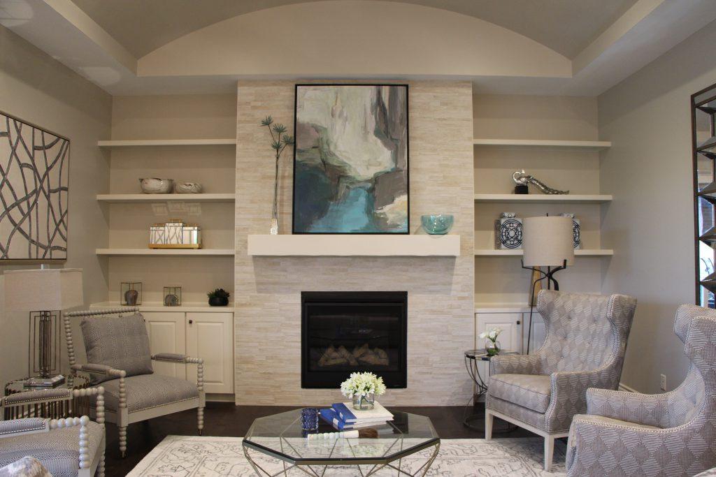 Custom New Construction Living Room in Wichita
