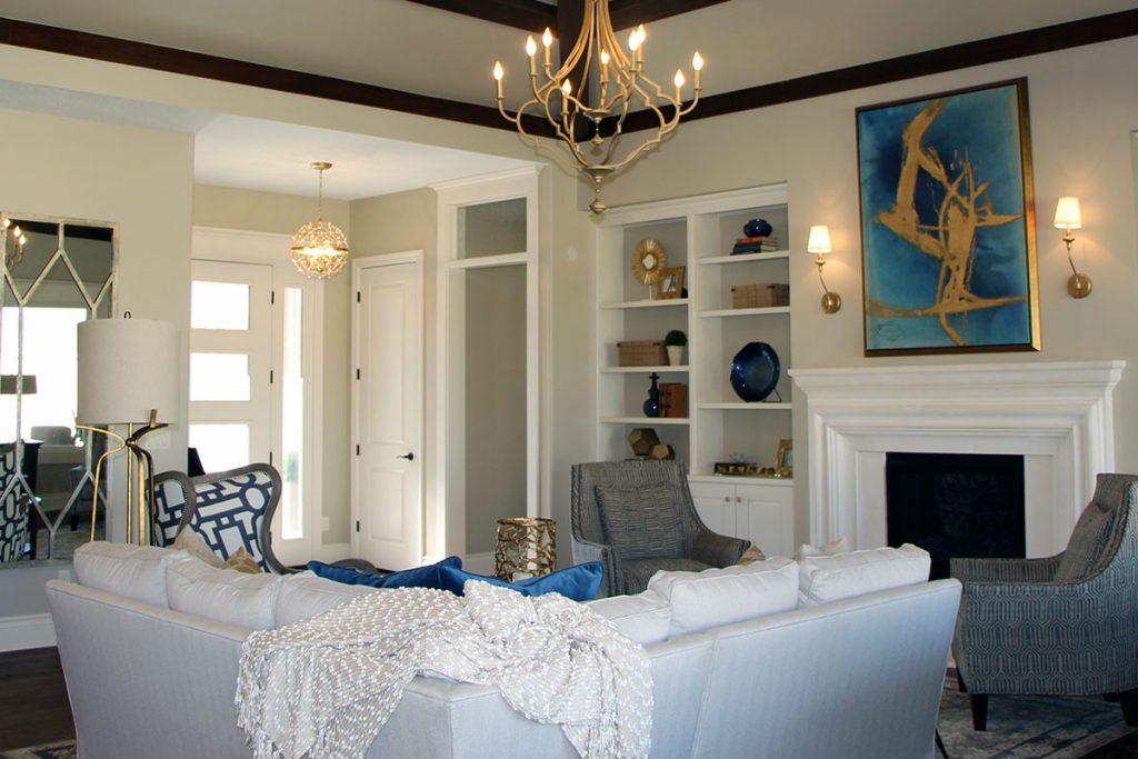 Sedona Custom New Construction Living Room in Wichita