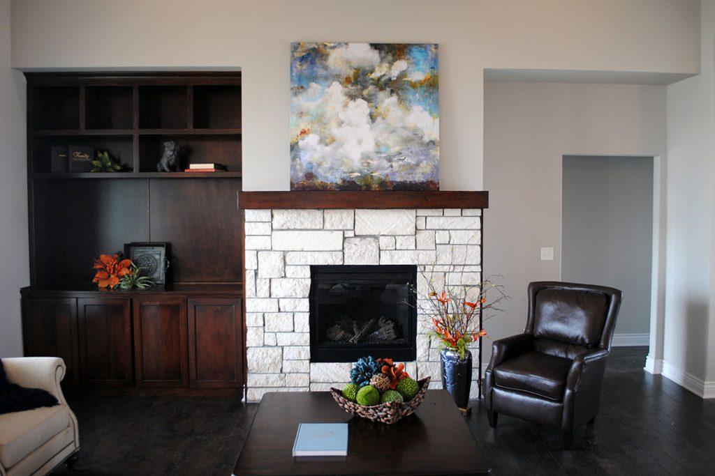 Braewick Custom New Construction Living Room in Wichita
