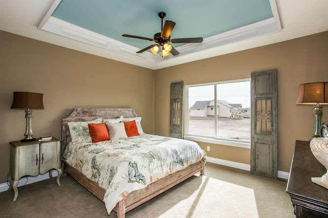 Brighton Custom New Construction Bedroom in Wichita