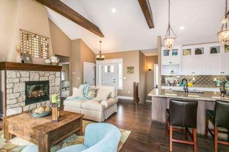 Brighton Custom New Construction Living Room in Wichita
