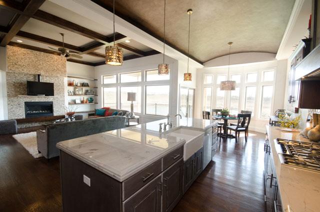 Cordillera Custom New Construction Kitchen in Wichita