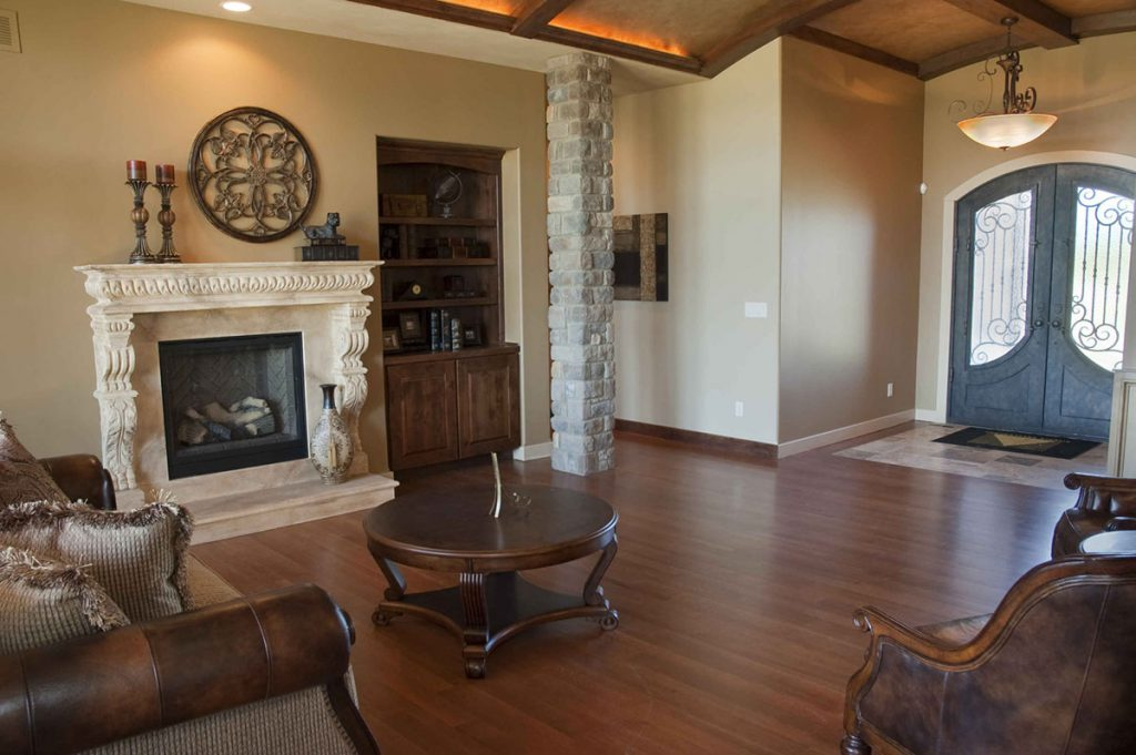 Davenport Custom New Construction Living Room in Wichita