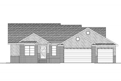Mandalay Custom Home Front Elevation in Wichita