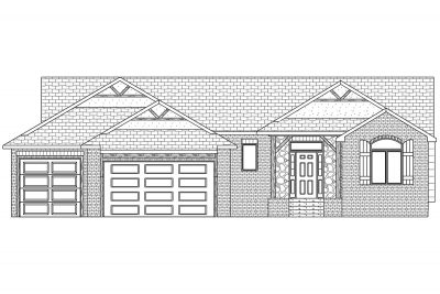 Yorskshire Custom Home Front Elevation in Wichita