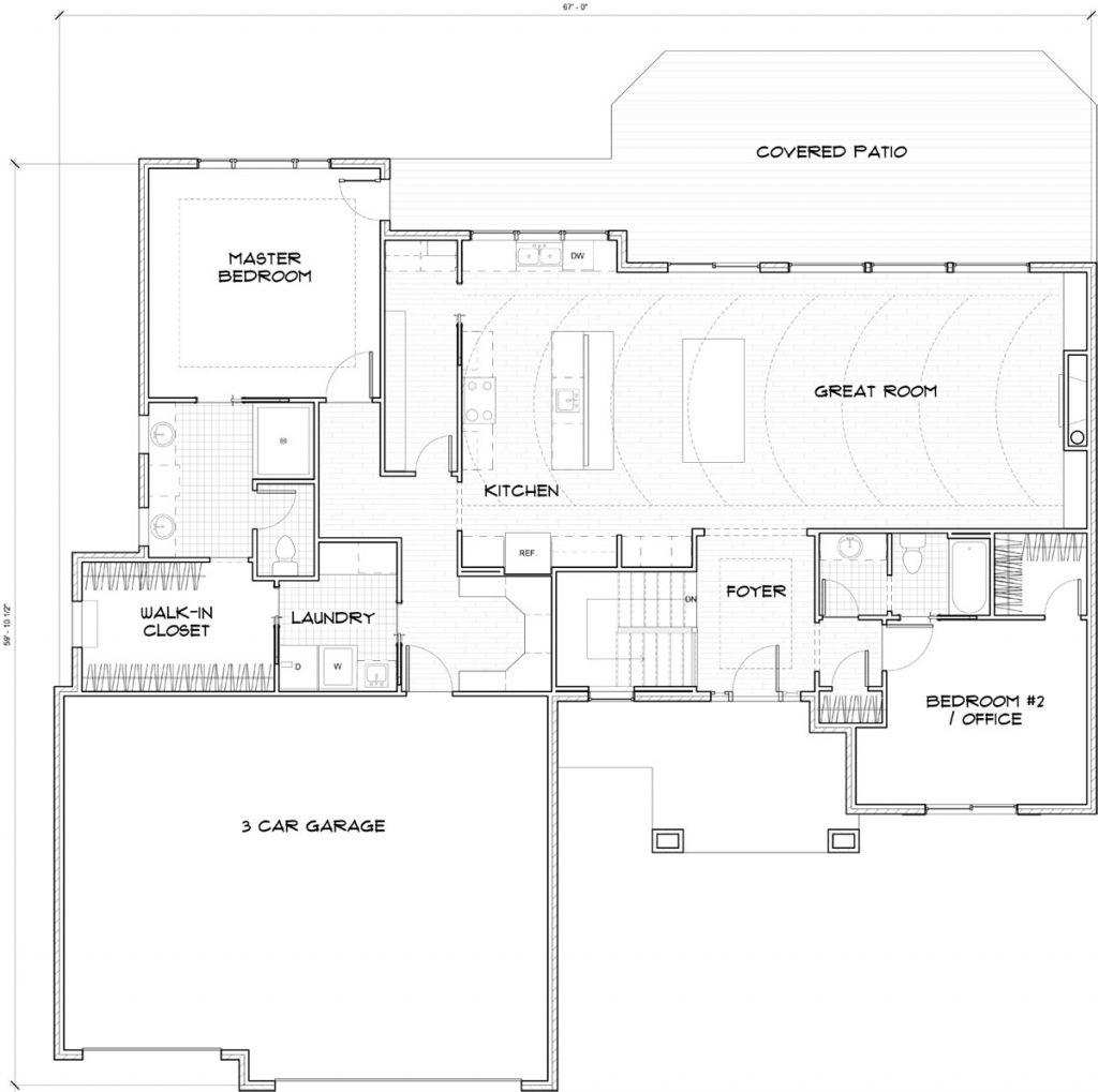 Bella Vista Main Wichita Custom Floor Plan