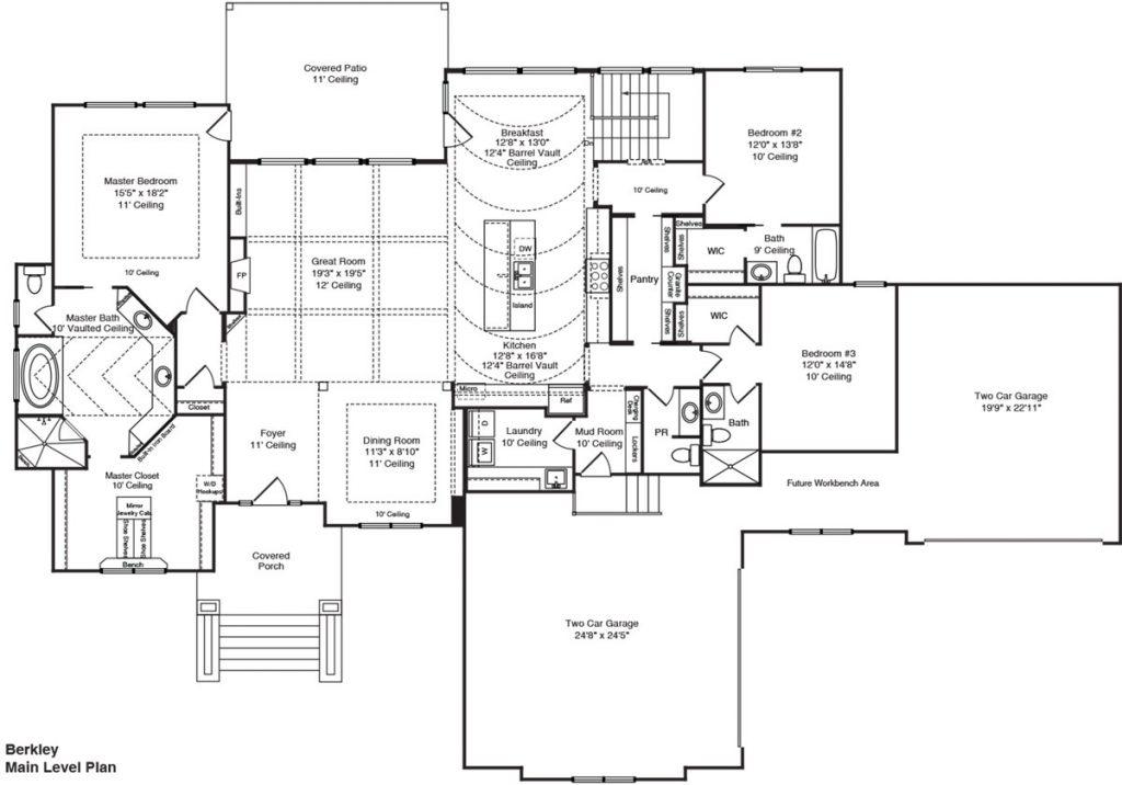 Berkley Custom Home Floor Plan in Wichita