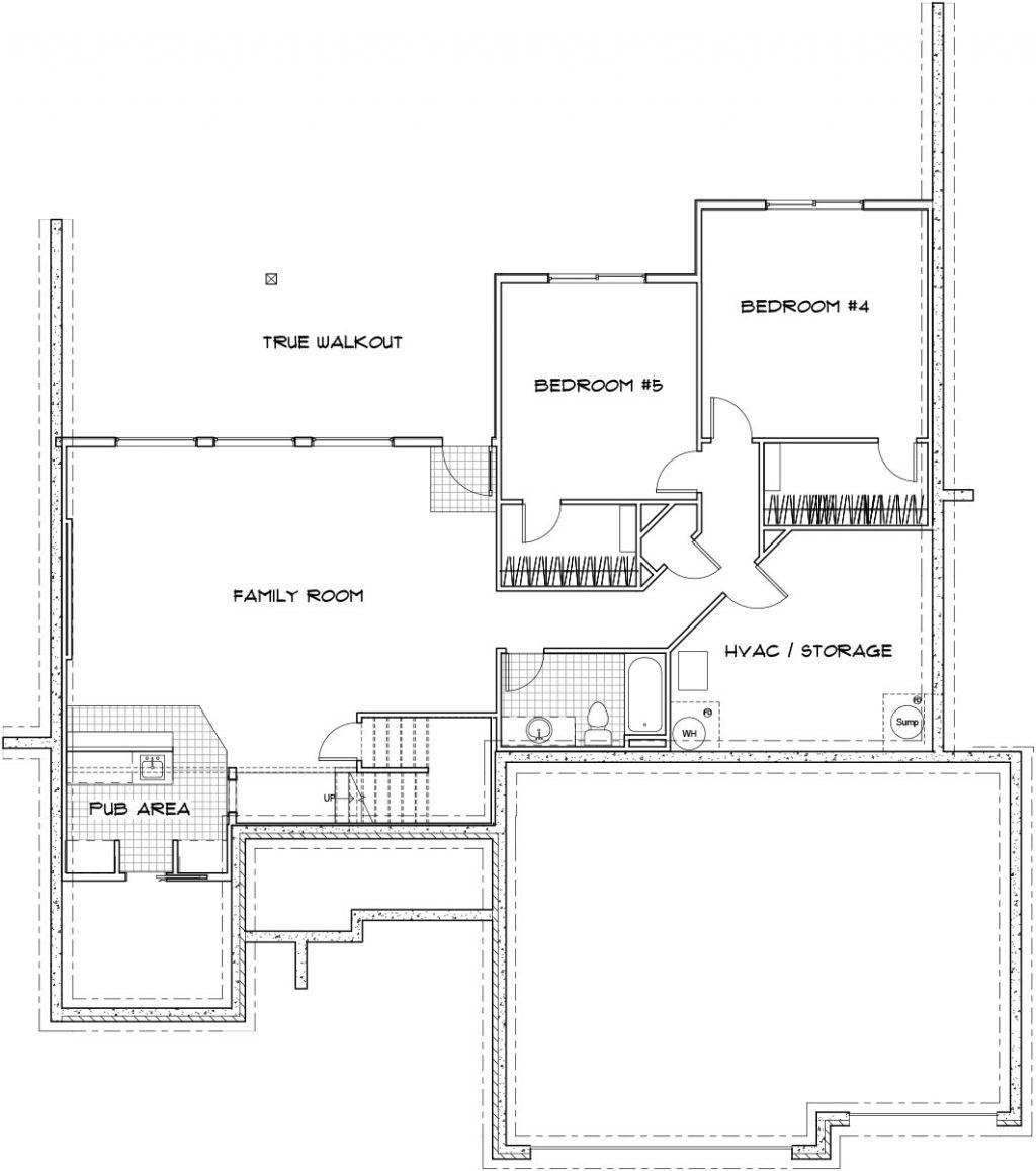 Biltmore Custom Home Floor Plan in Wichita