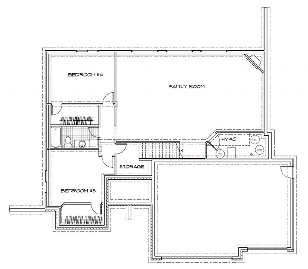 Birchwood Custom Home Floor Plan in Wichita