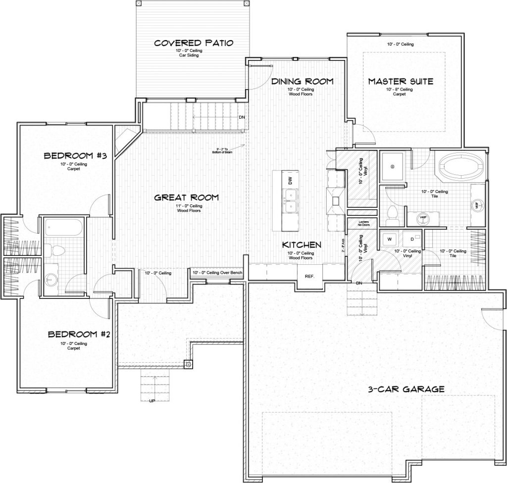Braewick Custom Home Floor Plan in Wichita