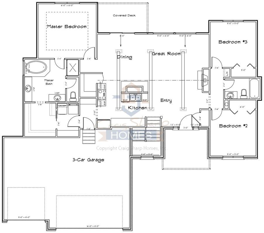Brighton 1608 Floor Plan Main Level