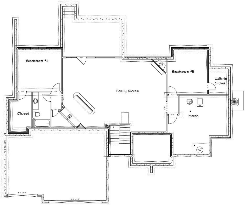 Brighton Custom Home Floor Plan in Wichita