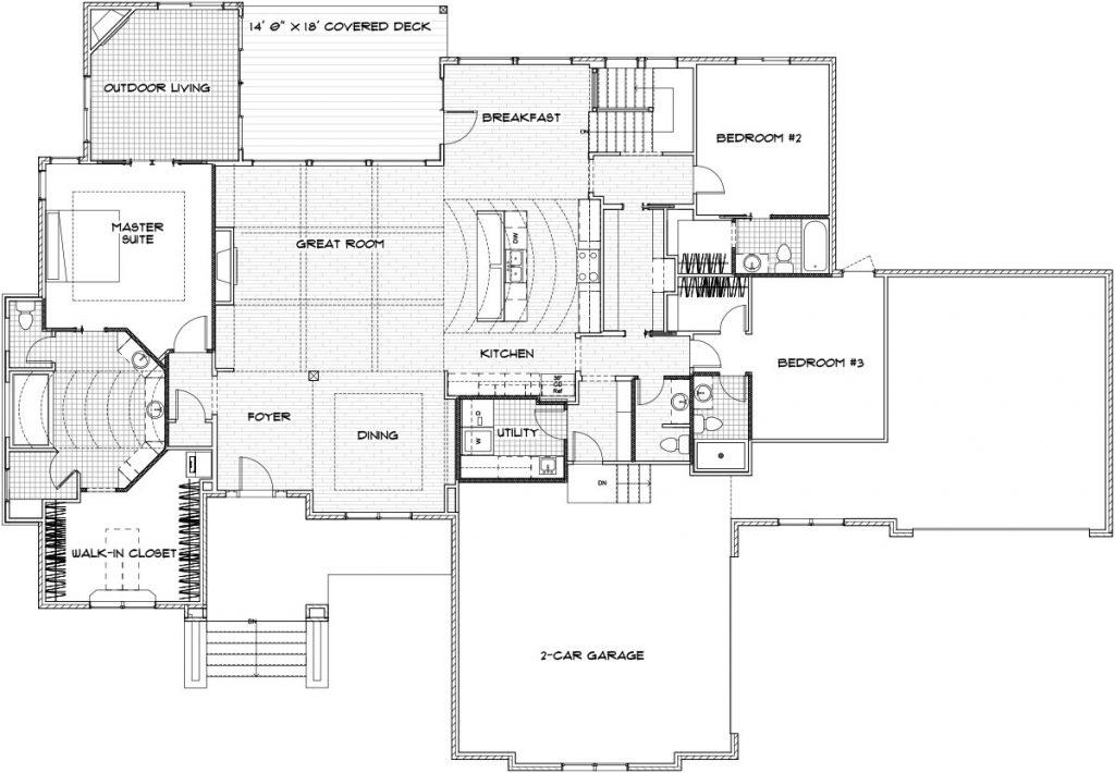 Brookline Custom Home Floor Plan in Wichita