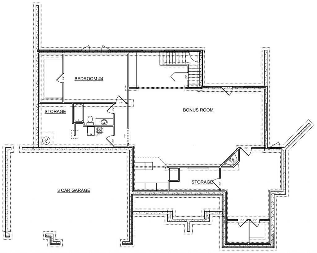 Brunnel Custom Home Floor Plan in Wichita