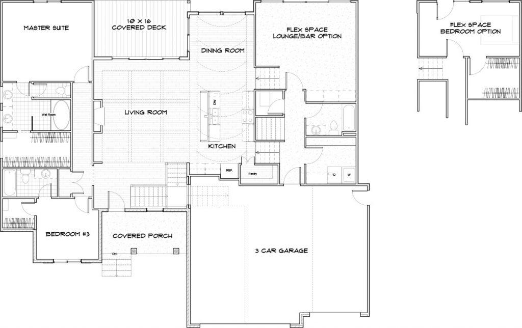 Cascade Custom Home Floor Plan in Wichita