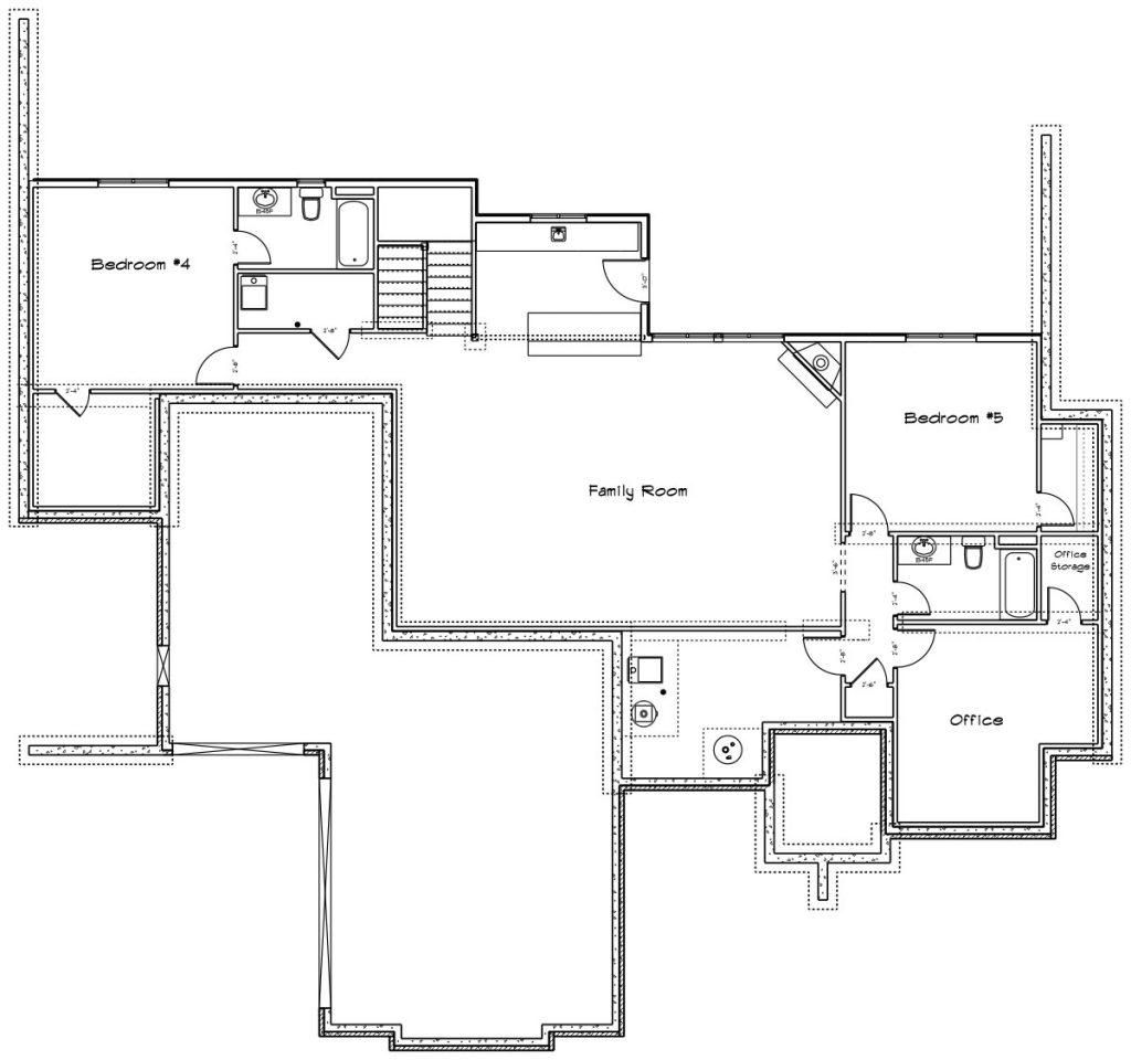 Chadwick Custom Home Basement Floor Plan in Wichita
