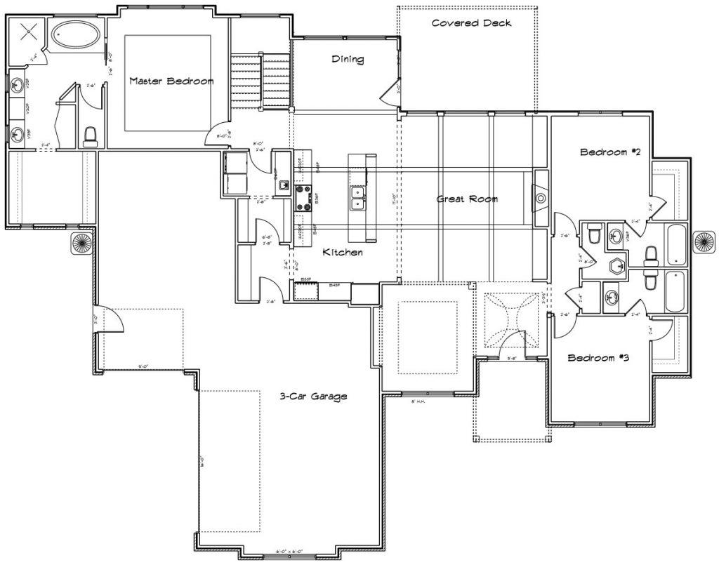 Chadwick Custom Home Main Level Floor Plan in Wichita
