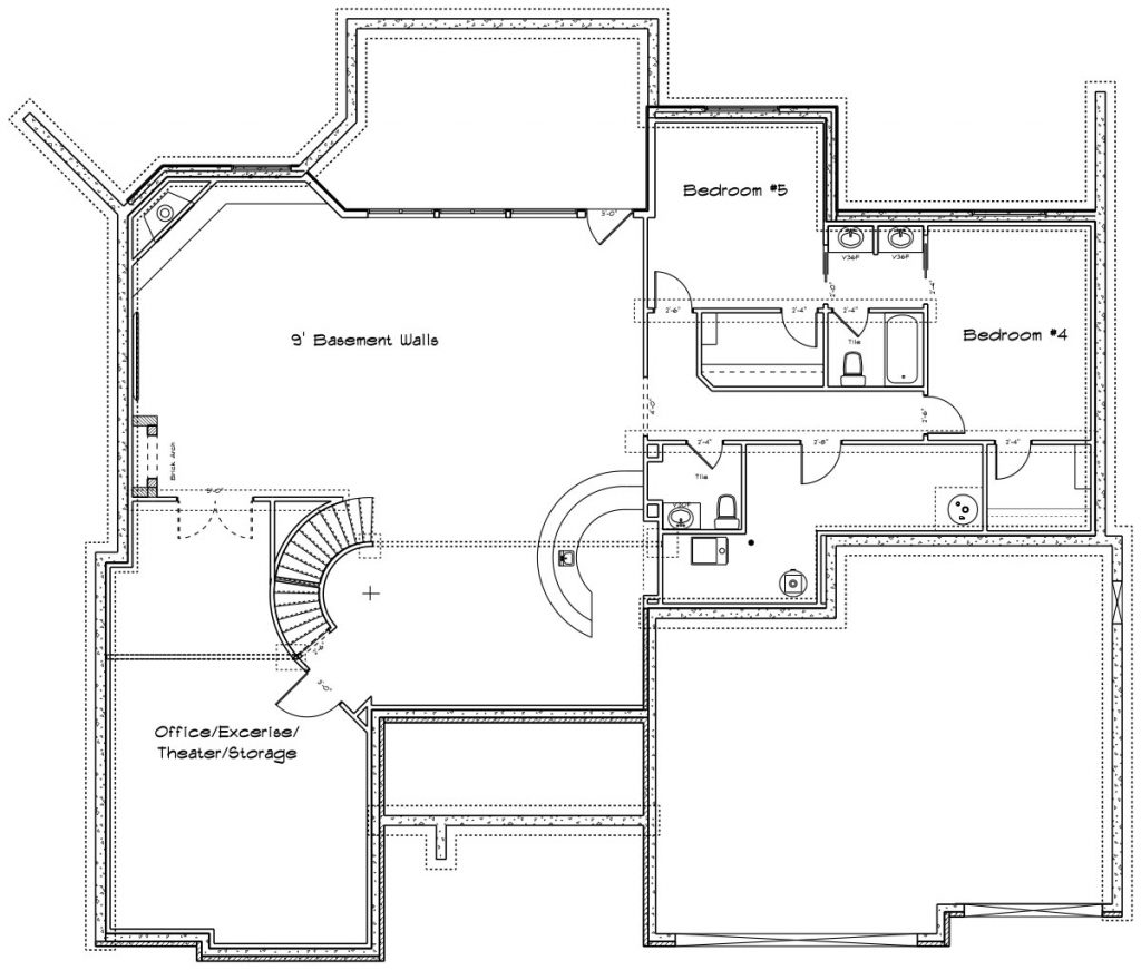 Cordillera Custom Home Floor Plan in Wichita