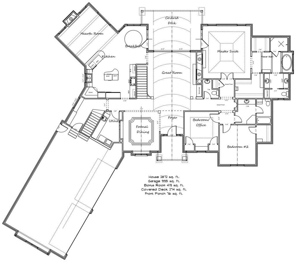 Davenport Floor Plan Main Floor