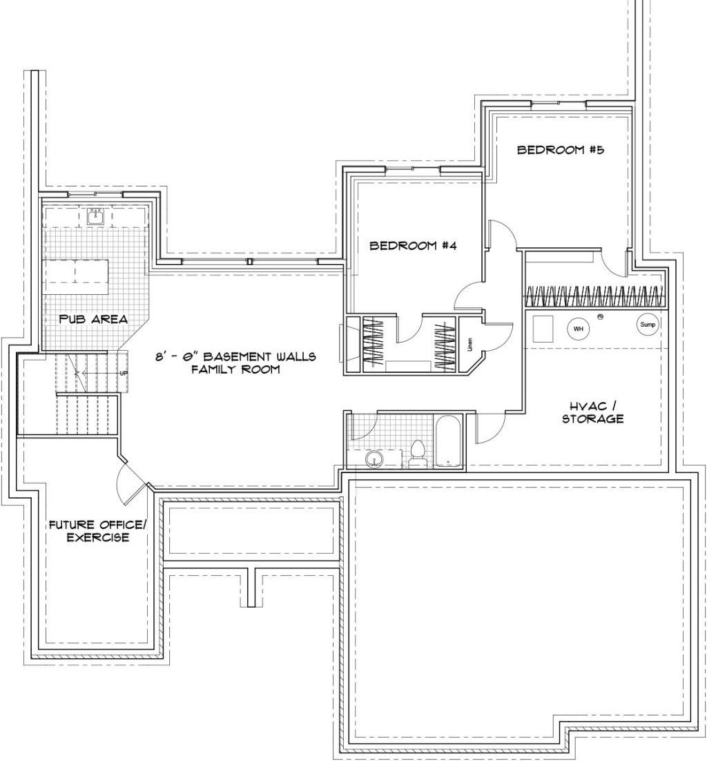Hampton Custom Home Floor Plan in Wichita