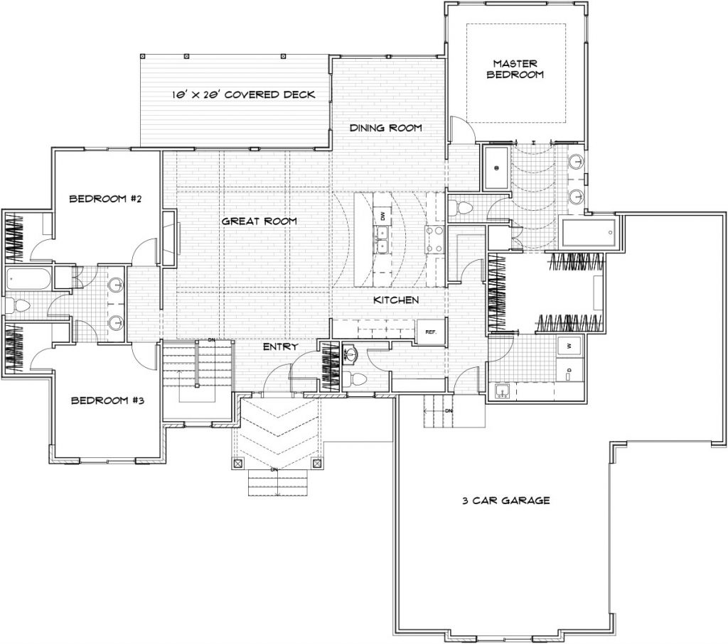 Hartford Custom Home Floor Plan in Wichita