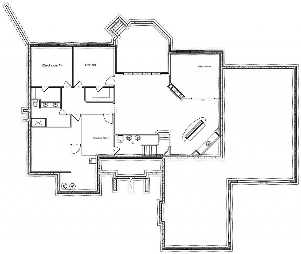 Hathaway Custom Home Floor Plan in Wichita