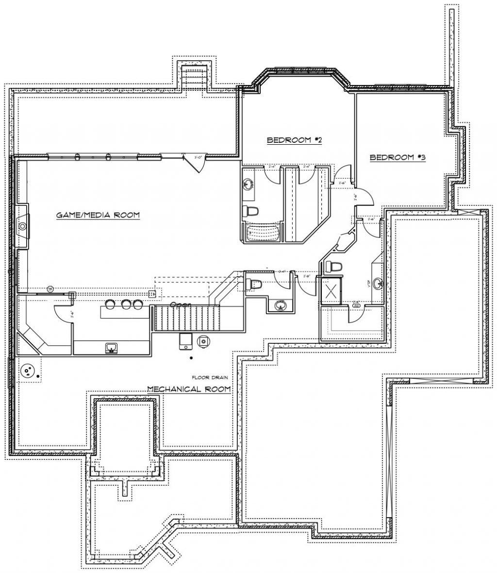 Kensington Custom Home Floor Plan in Wichita