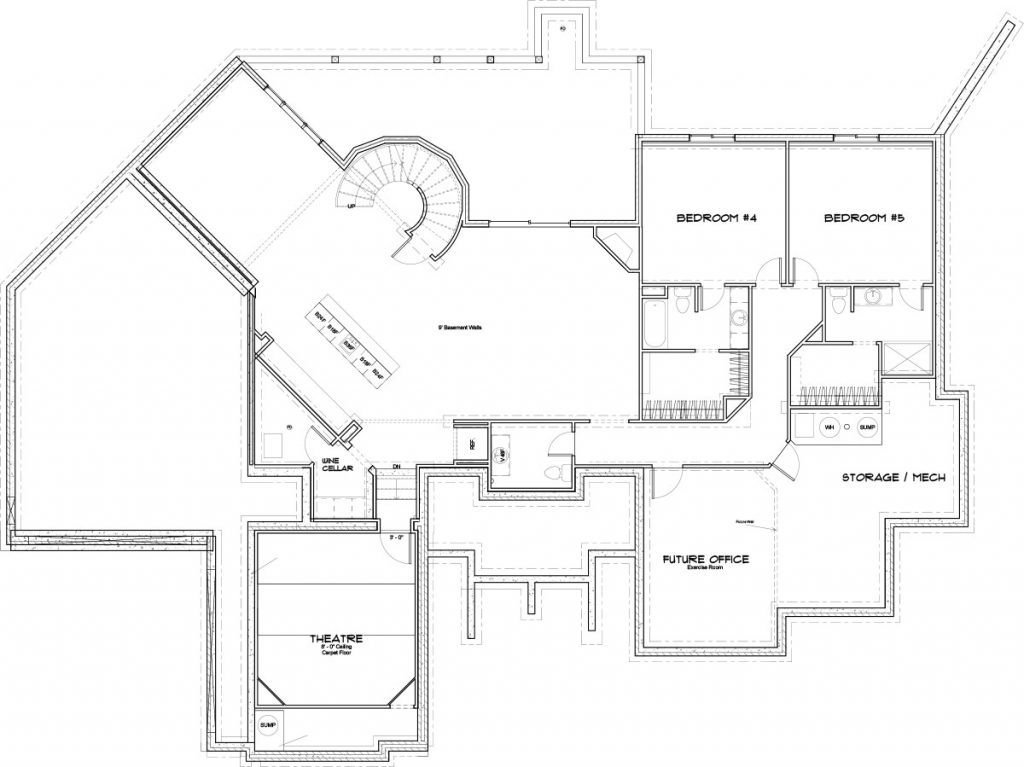 La Serana Custom Home Floor Plan in Wichita