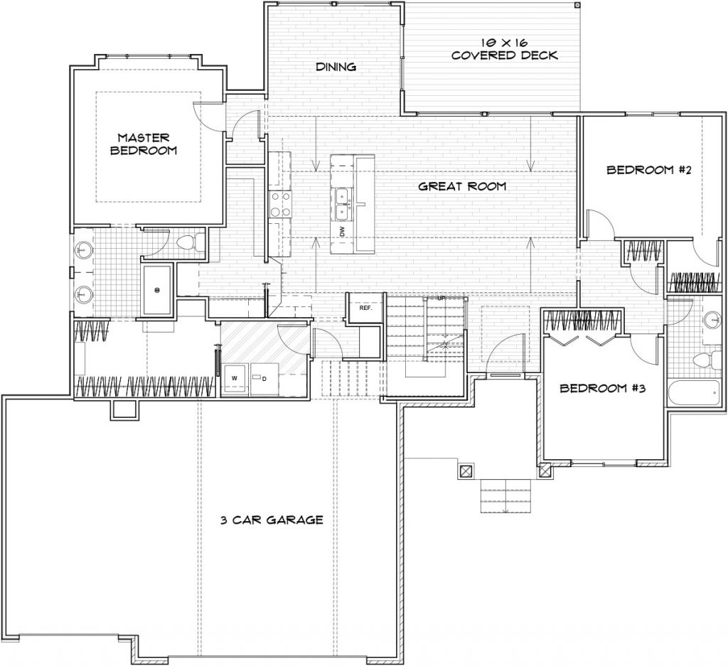 Mandalay Custom Home Floor Plan in Wichita