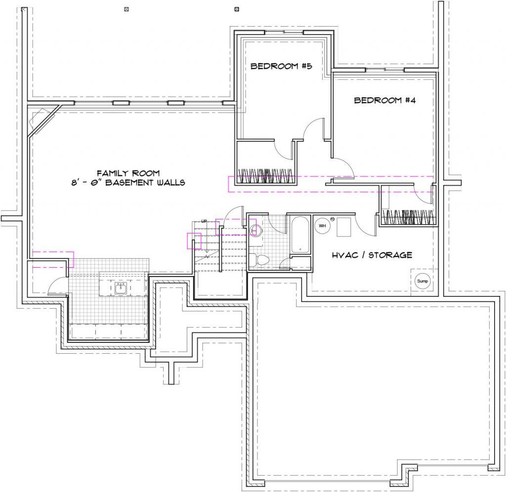 Mandalay Custom Home Floor Plan in Wichita