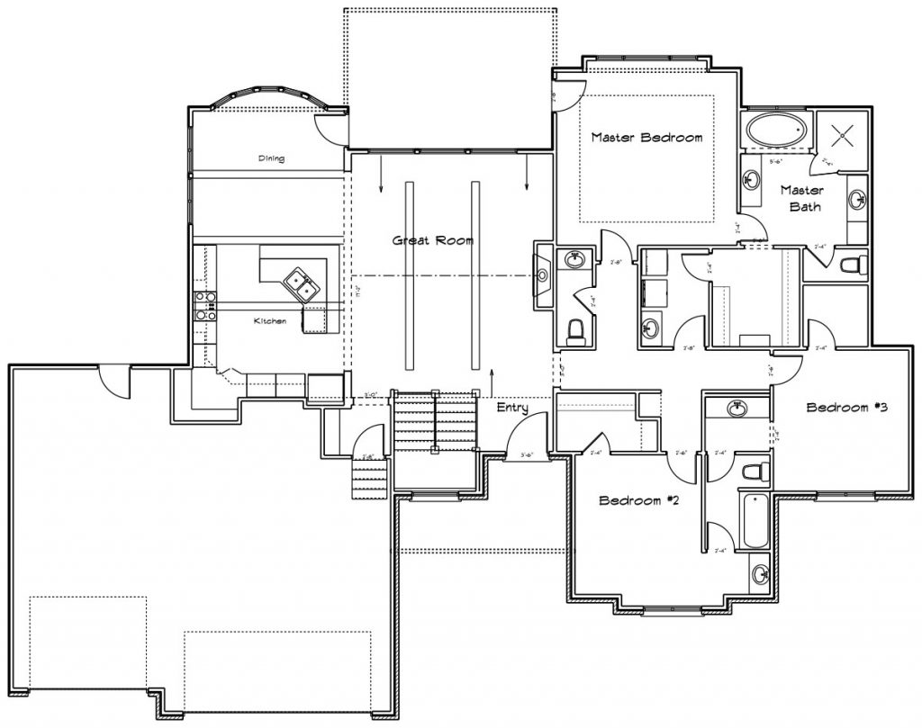 Martelli Custom Home Floor Plan in Wichita