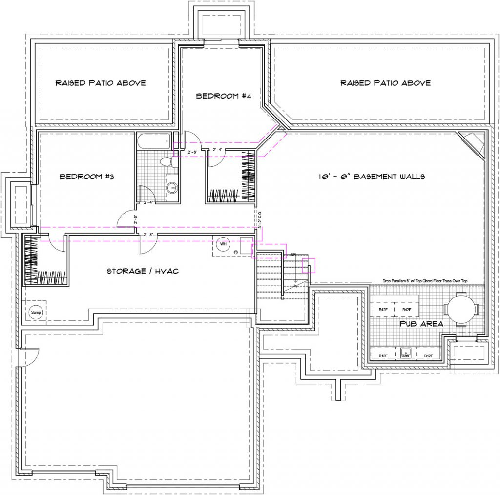Morningside Custom Home Floor Plan in Wichita