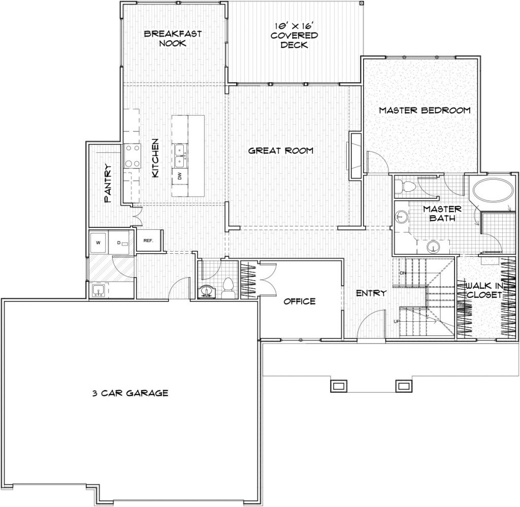 Norfolk Custom Home Floor Plan in Wichita
