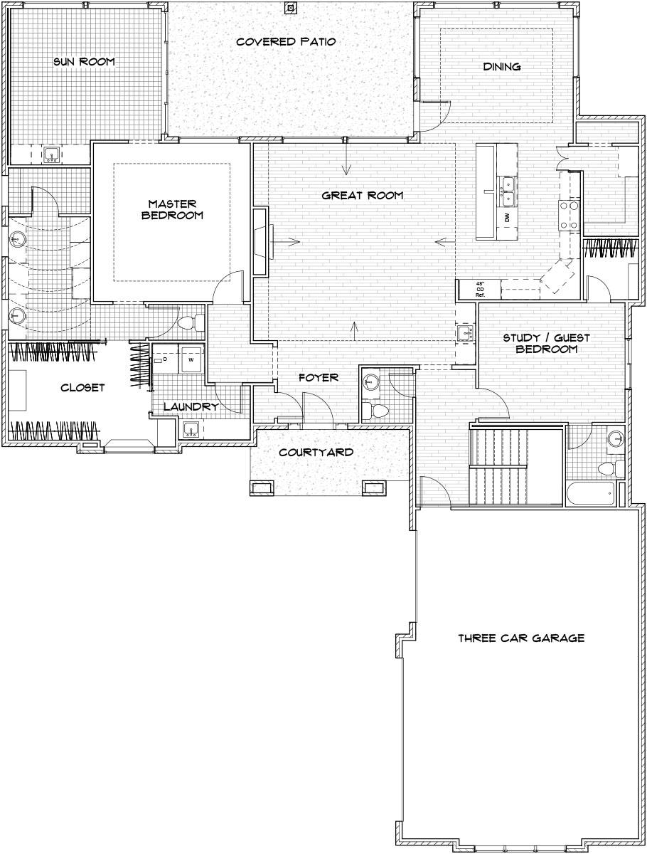 Sedona Custom Home Floor Plan in Wichita