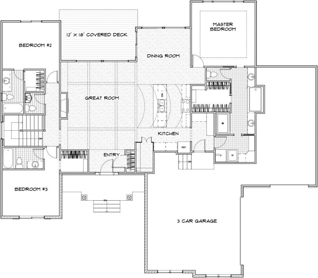 Valencia Custom Home Floor Plan in Wichita