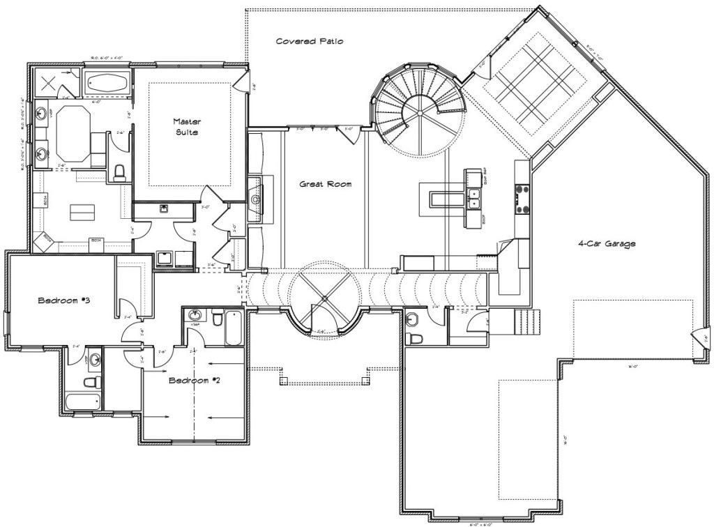 Vienna Custom Home Floor Plan in Wichita