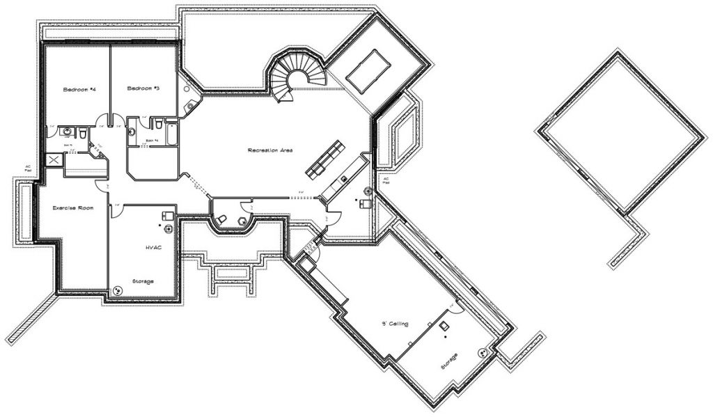Villa Custom Home Floor Plan in Wichita