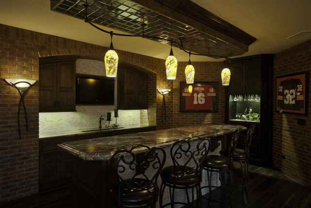 Hathaway Custom New Construction Bar and Entertainment in Wichita