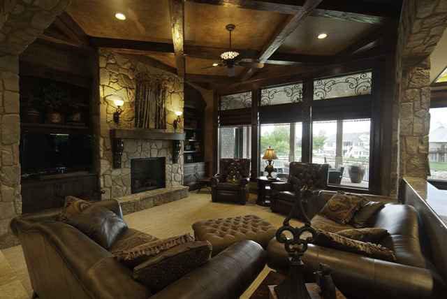 Hathaway Custom New Construction Living Room in Wichita