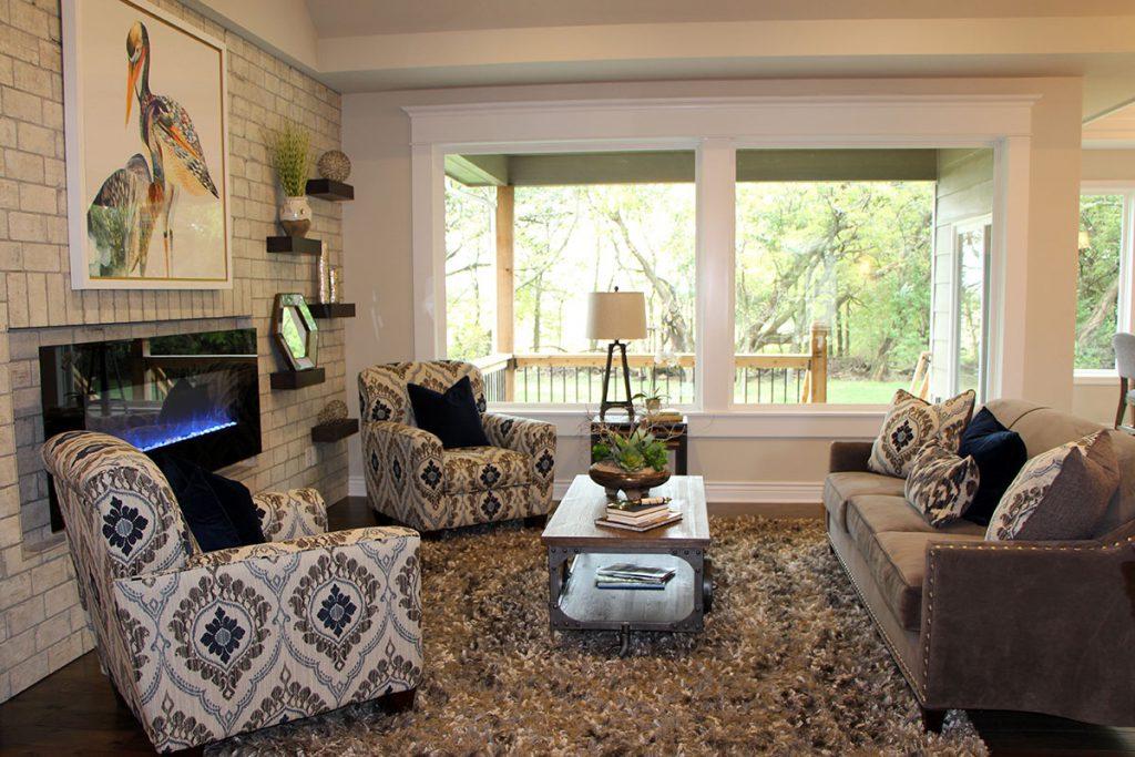 Mandalay Custom New Construction Living Room in Wichita