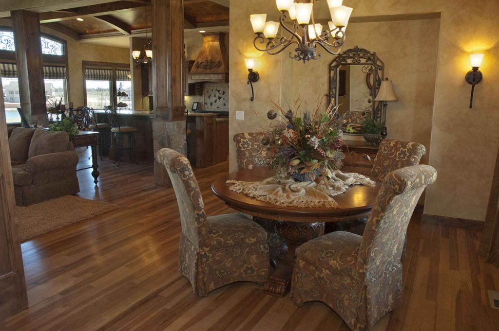 Nantucket Custom New Construction Dining Room in Wichita
