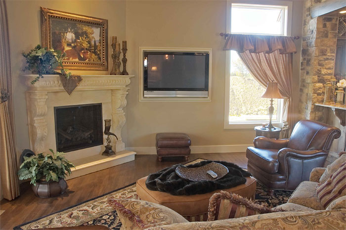 Villa Cheverny Custom New Construction Living Room in Wichita