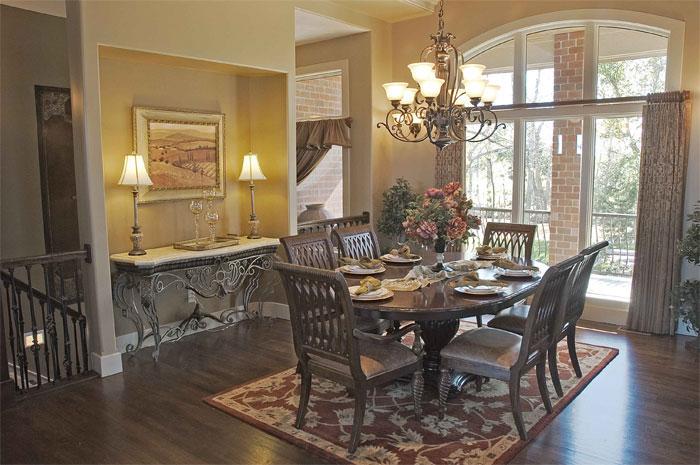 Villa Custom New Construction Dining Room in Wichita