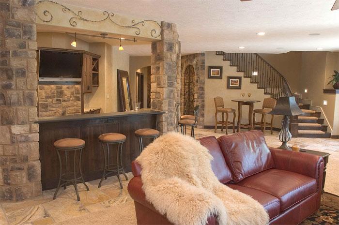 Villa Custom New Construction Bar and Entertainment in Wichita